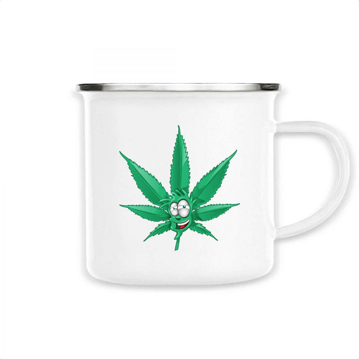 Mug émaillé Made In Chanvre - Feuille de Cannabis