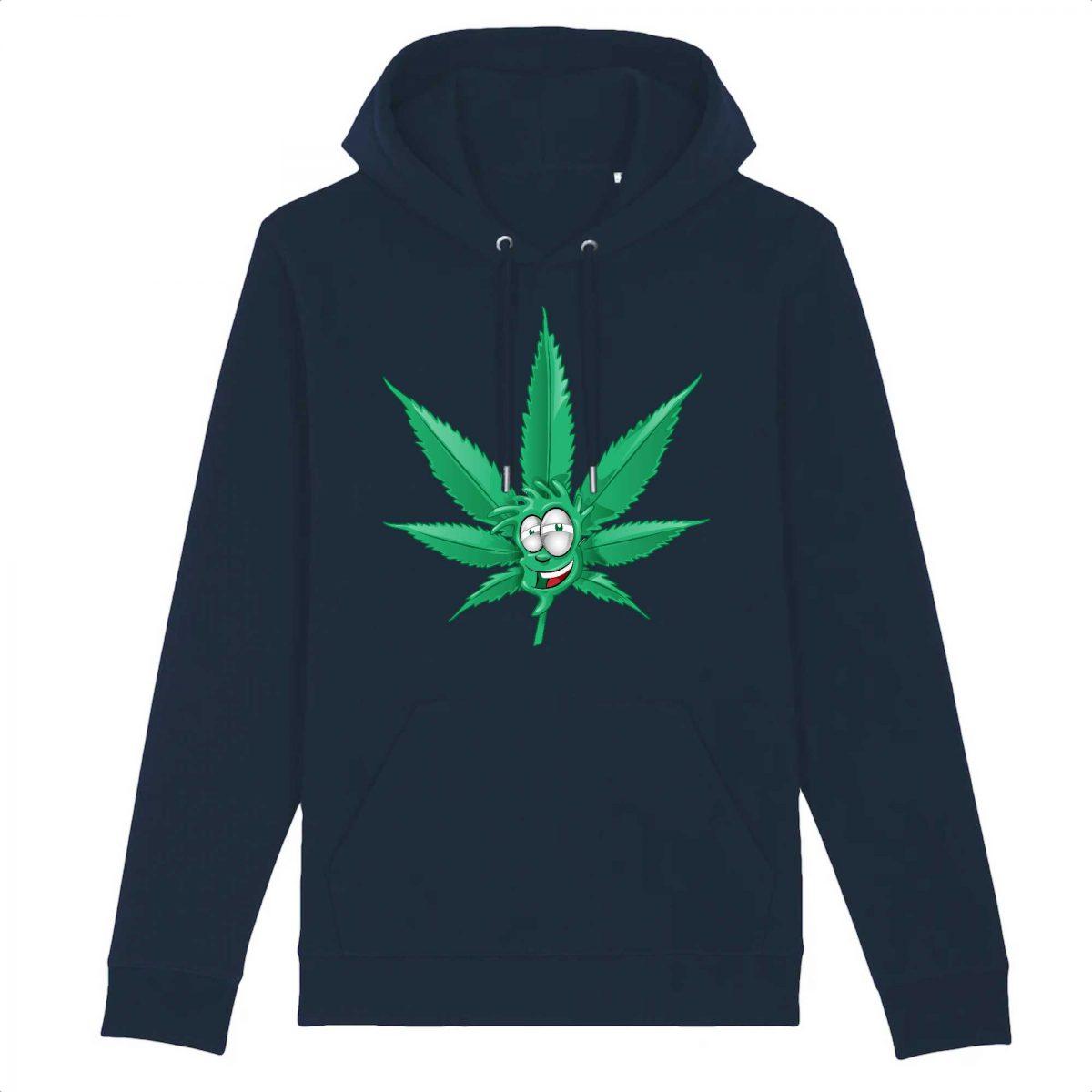 Sweat à capuche BIO Made In Chanvre - Feuille de Cannabis